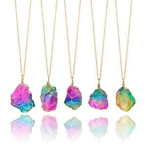 Rainbow Stone Necklace 🌈😍